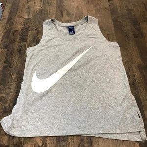 Nike Gray Razorback Tank Top M